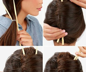 hairdo, hair tutorial, and french twist image