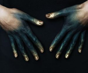 hands, art, and gold image