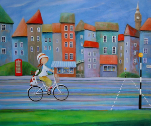 bicycle, cat, and dog image