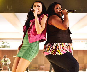 amber riley, naya rivera, and glee image