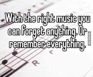 music, forget, and remember image