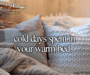 bed, cold, and winter image