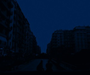 blue, Darkness, and night image