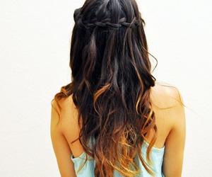 braid, brown, and cool image