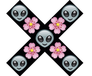 alien, cool, and flower image