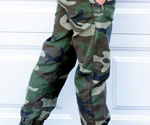 bracelets, white converse, and army pants image