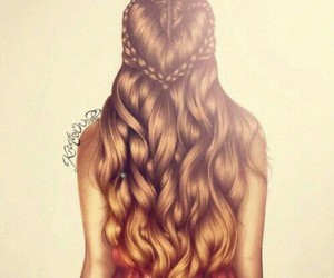 art, creative, and curl hair image