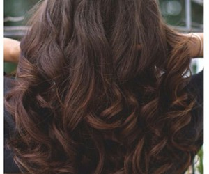 brown curled hair and big beautiful curls image