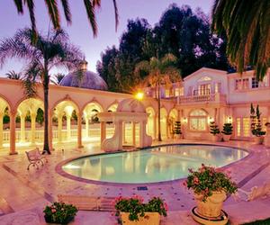beautiful, evening, and villa image