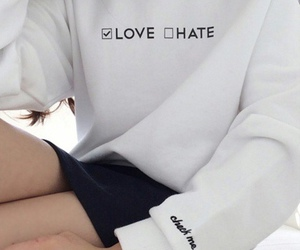 love, hate, and white image