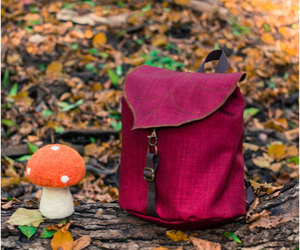 backpack, handmade, and sewing image