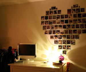 heart, room, and photo image
