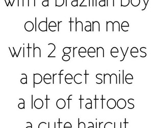 lots of tattoos, cute haircut, and greeen eyes image