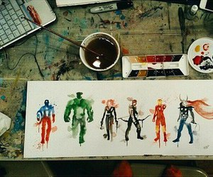 Avengers, Marvel, and art image