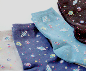 socks, galaxy, and clothes image