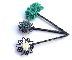 accessories, hair pins, and rose image