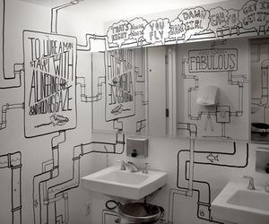 art and bathroom image