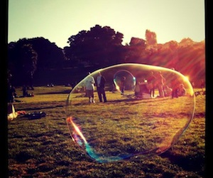 bubbles and instagram image