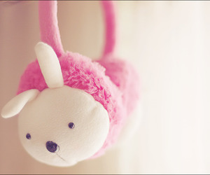 cute, pink, and bunny image