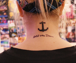 tattoo, anchor, and hold me down image
