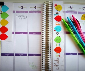 calendar, colourful, and school stuff image