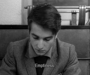 emptiness, black and white, and sad image