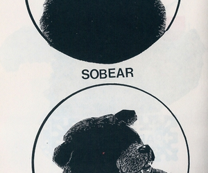 bear, funny, and sober image
