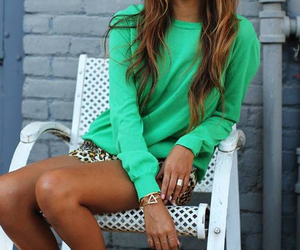 fashion, green, and inspo image