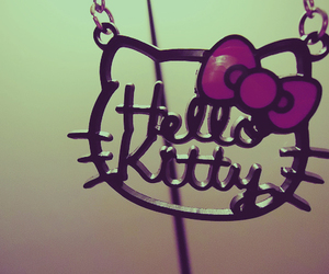 hello kitty, necklace, and kitty image
