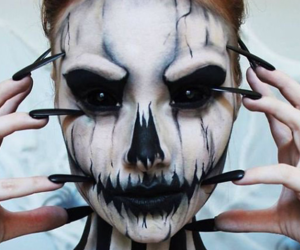 Halloween, make up, and maquillage image