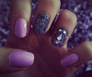 diamond, shine, and nails image