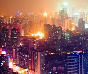 city, landscape, and light image