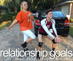 boy, girl, and goals image