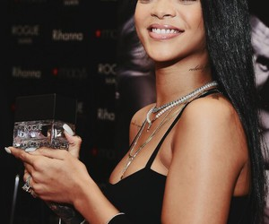 rihanna, smile, and black image
