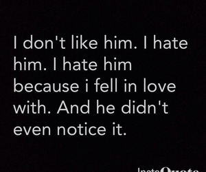 hate, him, and love image