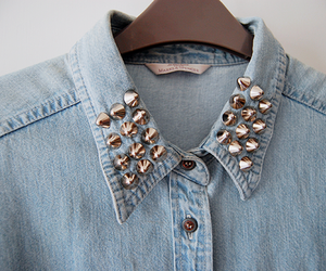 fashion, studs, and shirt image