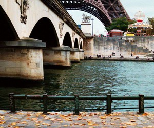 autumn, fall, and eiffel tower image