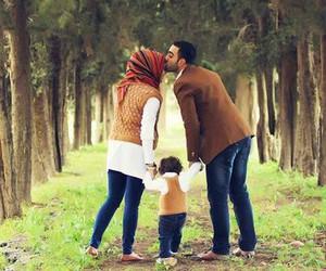 family, hijab, and muslim image