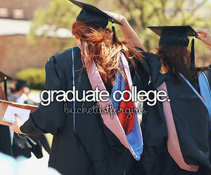 graduation, graduate, and college image