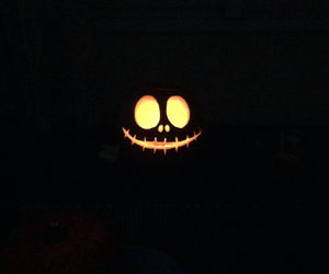 Halloween, night, and pumpkin image