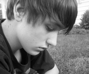 black and white, boy, and emo image