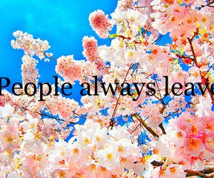 bloom, people always leave, and leave image