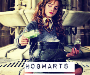 hogwarts, harry potter, and hermione image