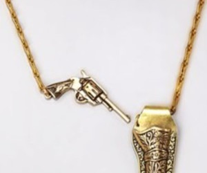 necklace and gun image