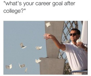 funny, money, and college image
