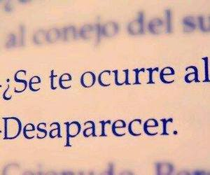 disappear, book, and frases image