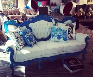 blue, home decor, and luxury image