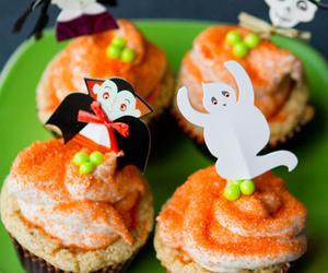food, cupcake, and Halloween image