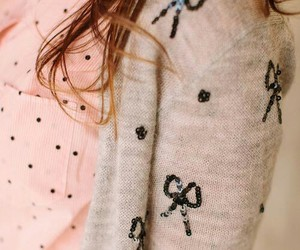 bow, pink, and sweater image