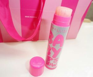 pink, balm, and beauty image